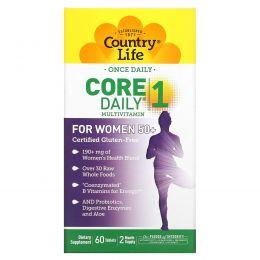 Country Life, Core Daily -1, Мультивитамины для женщин за 50, 60 таблеток