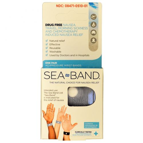 Sea Band, Акупрессурные напульсники, одна пара