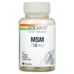 Solaray, МСМ, 750 мг, 90 вегетарианских капсул
