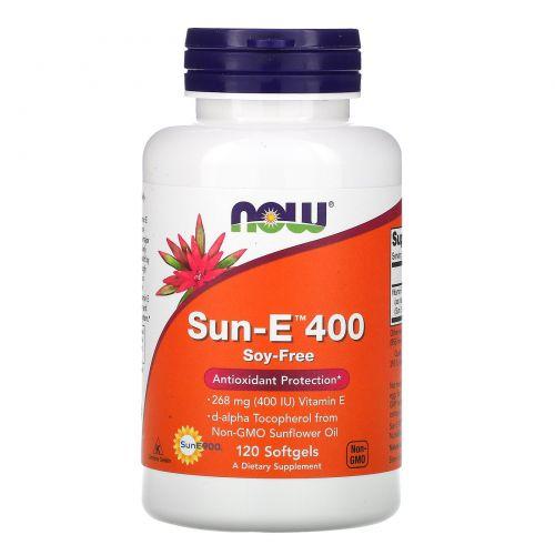Now Foods, Sun-E 400, 120 мягких желатиновых капсул