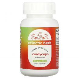 Eclectic Institute, Грибы кордицепса, свежие лиофилизированные, 560 мг, 120 вегетарианских капсул