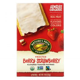 Nature's Path, Organic Flavored Toaster Pastries, Frosted Berry Strawberry, 6 Pastries, 11 oz (312 g)