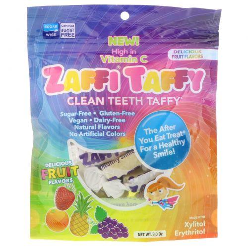 Zollipops , Ириски Zaffi, ириски для чистки зубов, отличные вкусы, 3,0 унции