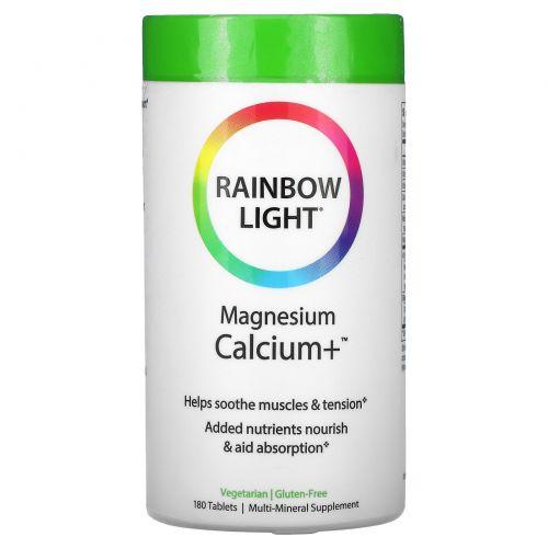 Rainbow Light, Магний и кальций+, пищевая формула, 180 таблеток