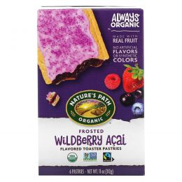 Nature's Path, Toaster Pastries, Frosted Wildberry Acai, 6 Pastries, 52 g Each