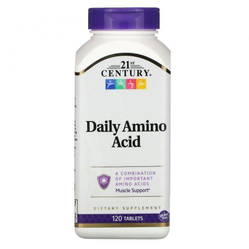21st Century, Аминокислоты для ежедневного приема, максимальная сила, 120 таблеток