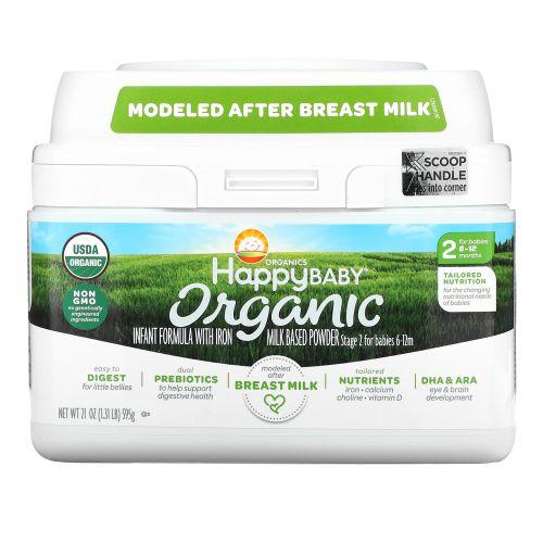 Nurture Inc. (Happy Baby), Organics Happy Baby, формула для грудных детей, этап 2, 6-12 месяцев, 21 унция (595 г)