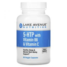 Lake Avenue Nutrition, 5-HTP with Vitamin B6 & Vitamin C,  60 Veggie Capsules