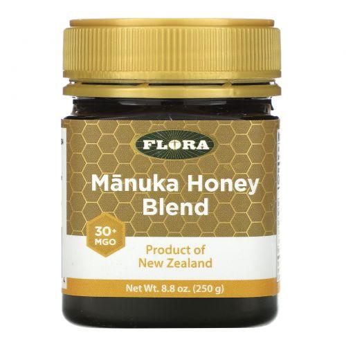 Flora, Смесь с медом манука, MGO 30+, 250г