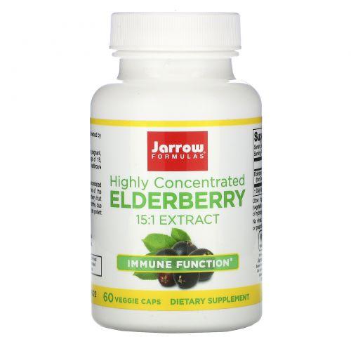 Jarrow Formulas, Elderberry Extract, Highly Concentrated, 60 Veggie Caps