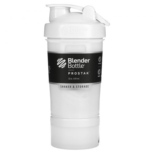 Sundesa, BlenderBottle, ProStak, White, 22 oz