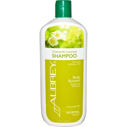 Aubrey Organics, Шампунь для объема волос, пышная ромашка, для нормальных волос, 16 жидких унций (473 мл)