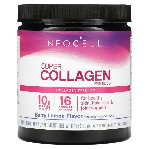 Neocell, Super Collagen, Type 1 & 3,Berry Lemon, 6,000 mg, 7 oz (198 g)