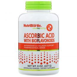NutriBiotic, Кристаллический порошок аскорбиновой кислоты с биофлавоноидами, 8 унций (227 г)