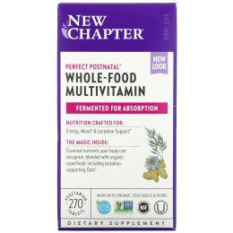 New Chapter, Perfect Postnatal, мультивитамины из цельных продуктов, 270вегетарианских таблеток