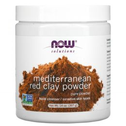 Now Foods, Порошок марокканской красной глины, 14 унций (397 г)