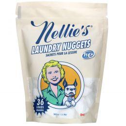 Nellie's All-Natural, Нагетсы для стирки белья, без запаха, 36 загрузок, 1/2 унций каждая
