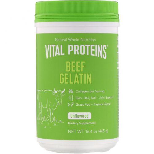 Vital Proteins, Желатин говяжий, 16 унций (454 г)
