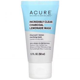 Acure, Incredibly Clear Charcoal Lemonade Mask, 1.7 fl oz (50 ml)
