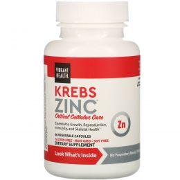 Vibrant Health, Цинк Krebs, 60 вегетарианских капсул