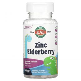 KAL, Zinc Elderberry ActivMelt, Mixed Berries , 90 Micro Tablets