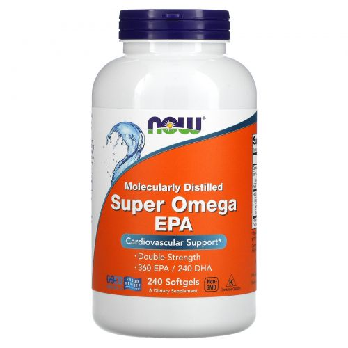 Now Foods, Супер Омега  эйкозапентаеновая кислота (ЭЗК), Двойная сила, 240 мягких желатиновых капсул