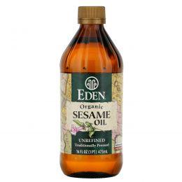 Eden Foods, Органическое кунжутное масло, нерафинированное, 16 жидких унций (473 мл)