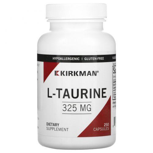 Kirkman Labs, L-таурин, 325 мг, 250 капсул