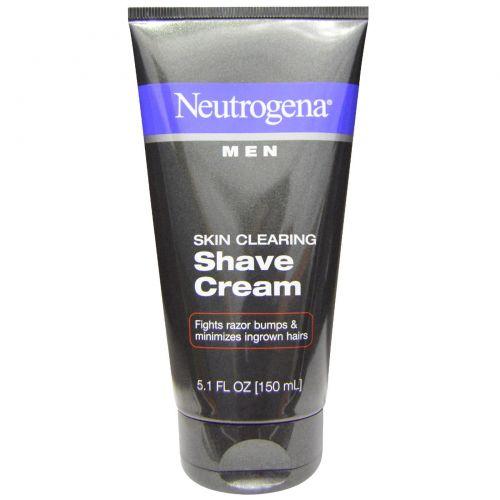Neutrogena, Очищение кожи, мужской крем для бритья, 5,1 жидких унций (150 мл)