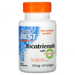 Doctor's Best, Tocotrienols with EVNol SupraBio, 50 mg, 60 Softgels