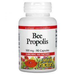 Natural Factors, Пчелиный прополис, 500 мг, 90 капсул