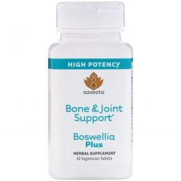 Savesta, Укрепление костей и суставов, Boswellia Plus, 60 вегетарианских таблеток