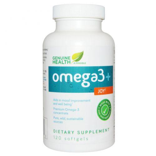 Genuine Health Corporation, Омега-3 + добавка Joy, 120 мягких капсул