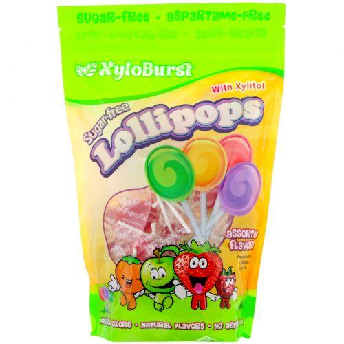 Xyloburst, Lollipops Mixed Flavors, 50ct bag