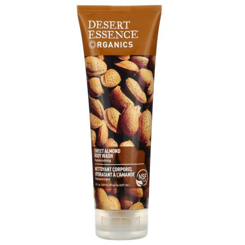 Desert Essence, Organics, Sweet Almond Body Wash, 8 fl oz (237 ml)