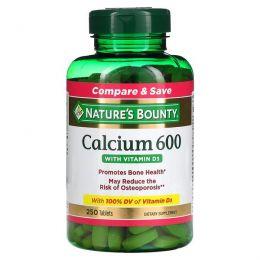 Nature's Bounty, Кальций 600 с витамином D3, 250 таблеток