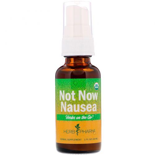 Herb Pharm, Herbs on the Go, средство от тошноты, 1 ж. унц. (30 мл)