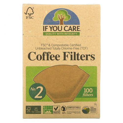If You Care, Фильтры для кофе, размер № 2, 100 фильтров