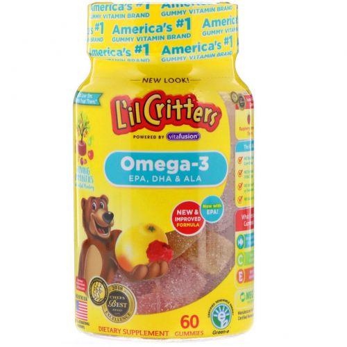 L'il Critters, Omega-3, Raspberry-Lemondade, 60 Gummies