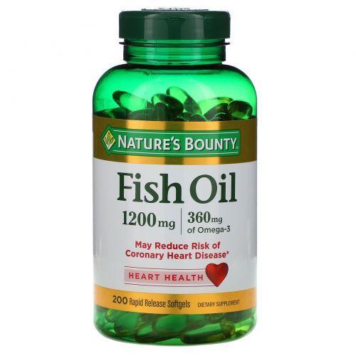 Nature's Bounty, Рыбий жир 1200 мг, 200 капсул