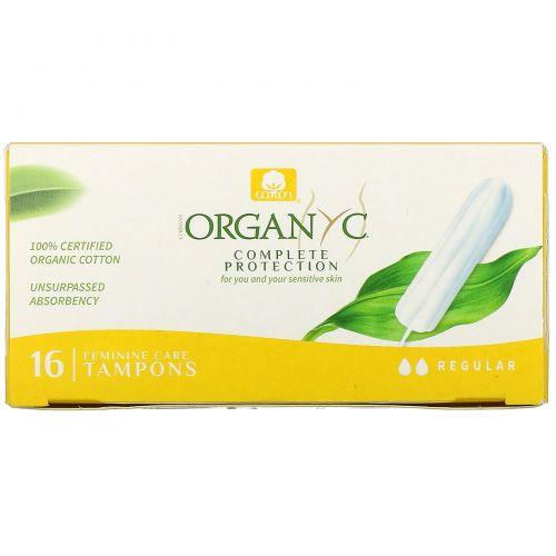 Organyc, Органические тампоны, 16 тампонов с обычной впитывающей способностью
