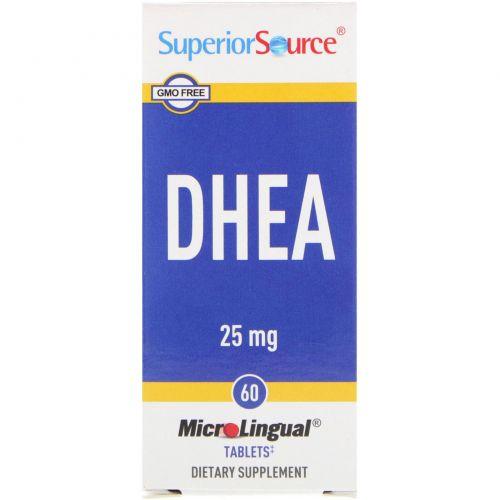 Superior Source, ДГЕА, 60 таблеток 60 мгновенно растворимых таблеток