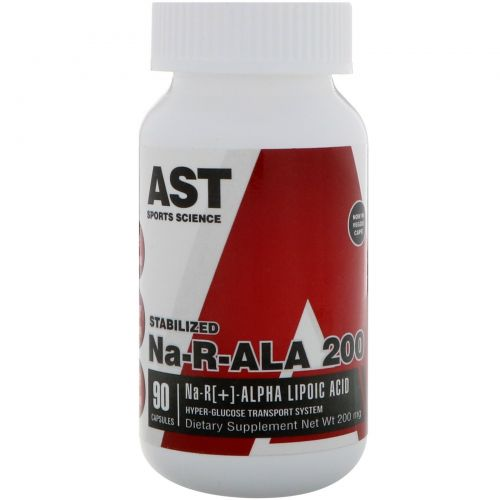 AST Sports Science, Na-R-ALA 200, 200 мг, 90 капсул
