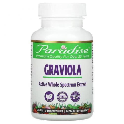Paradise Herbs, Brazilian Graviola, 60 Vegetarian Capsules