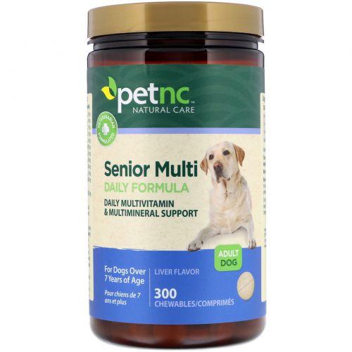 21st Century, Природный уход за домашними животными, мультивитамин для взрослых собак, ежедневная формула, формула печени, 300 жевательных драже