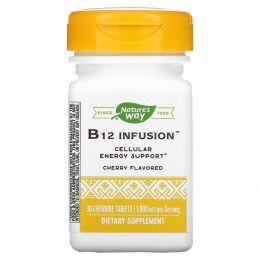 Nature's Way, Экстракт витамина B12, энергетический, 30 жевательных таблеток
