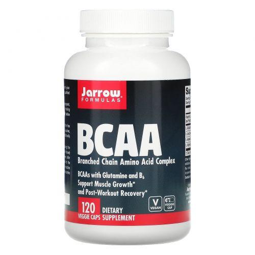 Jarrow Formulas, BCAA, комплекс аминокислот с разветвлённой цепью, 120 капсул
