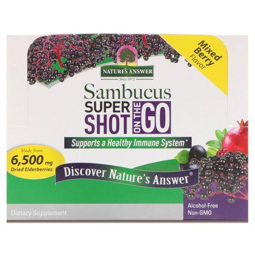 Nature's Answer, Sambucus Super Shot On The Go, Mixed Berry , 12 Pack, 2 fl oz (60 ml) Each