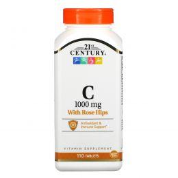 21st Century, C-1000, с шиповником, 110 таблеток