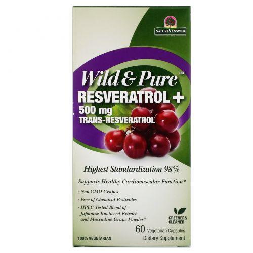 Genceutic Naturals, Чистый ресвератрол, 500 мг, 60 растительных капсул